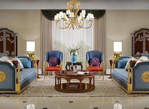组合中英式客厅